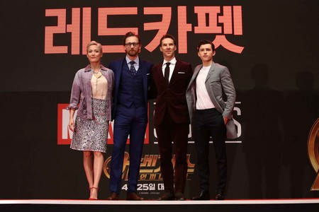 Las estrellas de 'Avengers: Infinity War' dominan la red carpet de la premiere en Korea