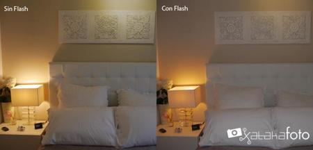 con y sin flash