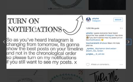 Esta es la razón por la que algunas cuentas de Instagram te piden que actives sus notificaciones