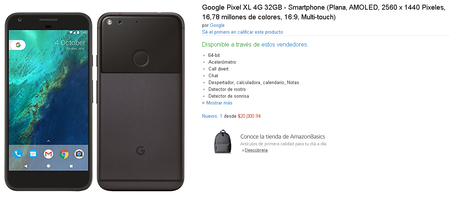 Google Pixel Xl Mexico Amazon