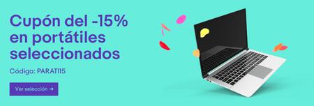 15% de descuento en ordenadores portátiles de eBay con este cupón
