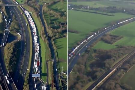 32 kilómetros de camiones agolpados en la frontera: la imagen que anticipa un Brexit sin acuerdo