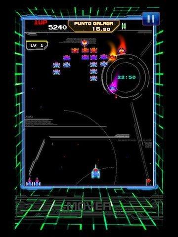 Un esquema de control de Galaxian