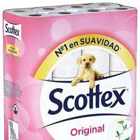 Papel higiénico Scottex Original, en paquete de 48 rollos, por sólo 19 céntimos/unidad