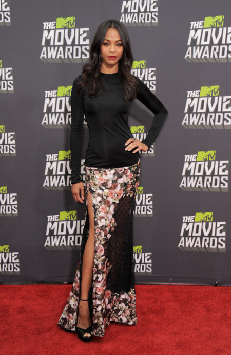 Zoe Saldana mtv movie awards 2013
