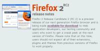 Firefox 2 RC2, más rápido, más eficiente : mejor
