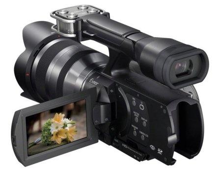 Sony NEX-VG20E se apunta a las pantallas táctiles