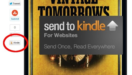 Amazon lanza su botón para enviar contenido al Kindle desde un sitio web