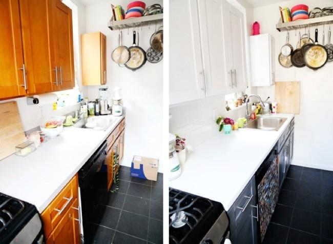 Antes y despu s eligiendo colores para renovar los - Renovar muebles de cocina ...