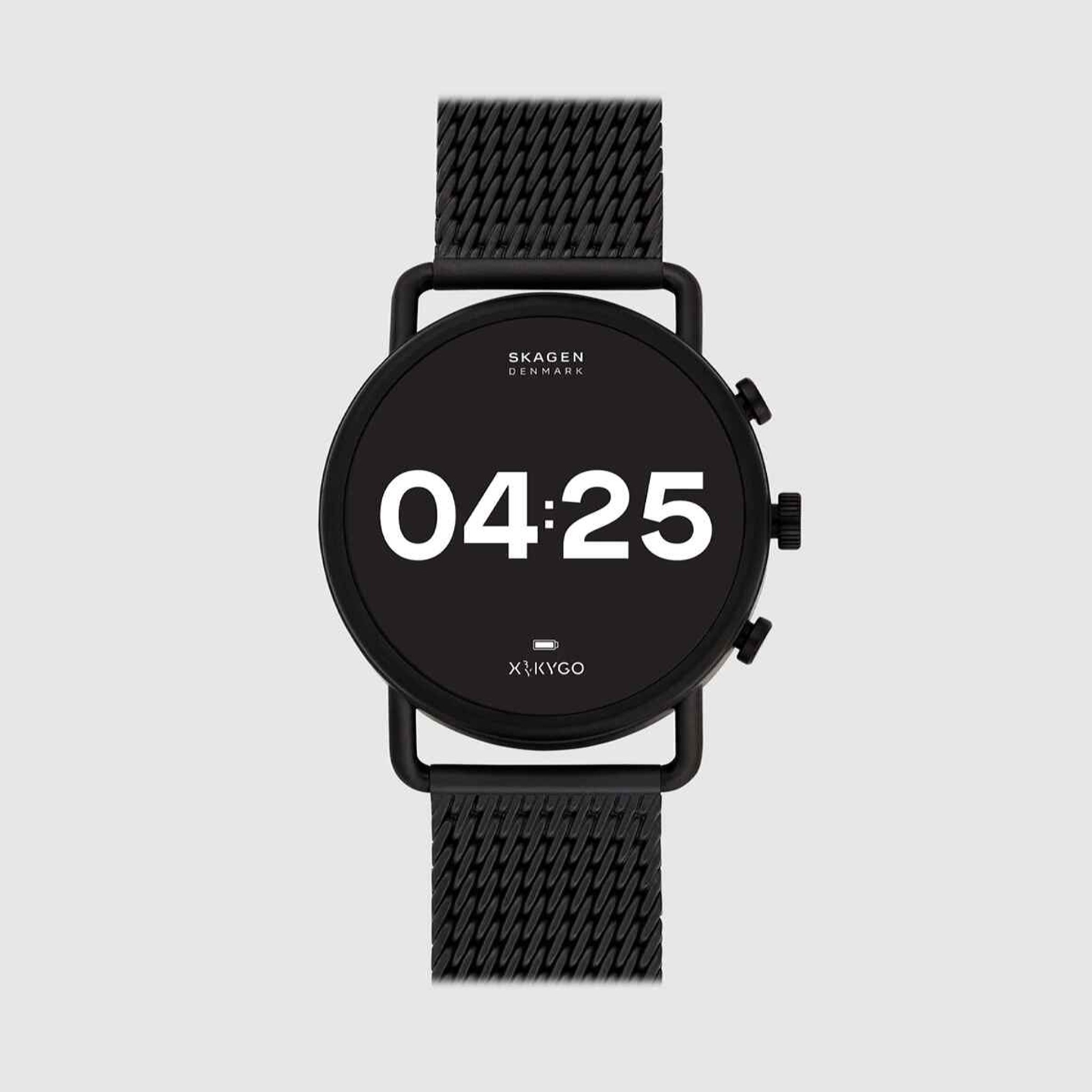 Smartwatch Skagen Falster 3 SKT5207 de malla de acero negro
