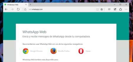 Microsoft Edge pronto tendrá soporte para WhatsApp Web