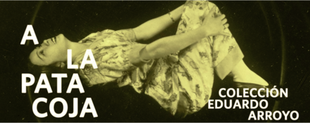 A la pata coja es libro que recoge las obras de la exposición homónima de la colección privada de Eduardo Arroyo
