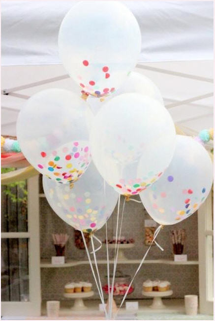 Decora vuestras fiestas infantiles con estos originales globos llenos de confeti