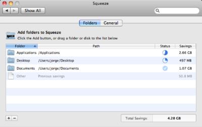 Squeeze gana espacio en tu disco duro en Snow Leopard