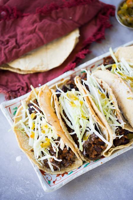 Tacos De Frijoles Puercos