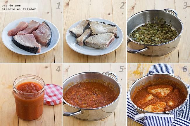 Receta clásica de bonito con tomate paso a paso