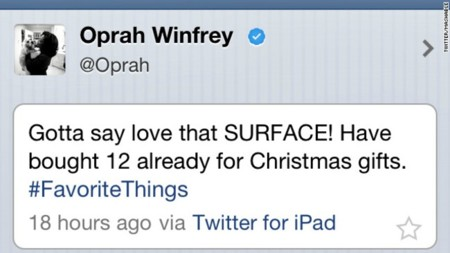Tuit Oprah Surface