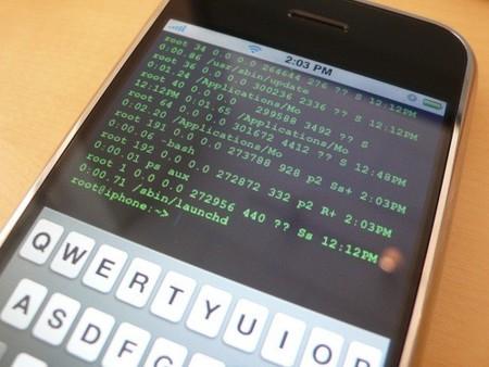 iPhone con Terminal