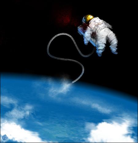 ¿Qué se oye en el interior de tu traje espacial mientras flotas en el espacio?
