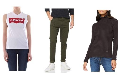 11 chollos en pantalones, chaquetas o camisetas de marcas como Levi's, Superdry, Pepe Jeans o Wrangler rebajadas en Amazon
