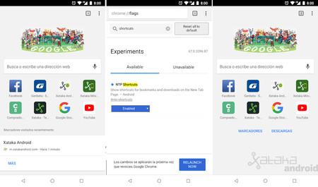 Chrome Accesos Android