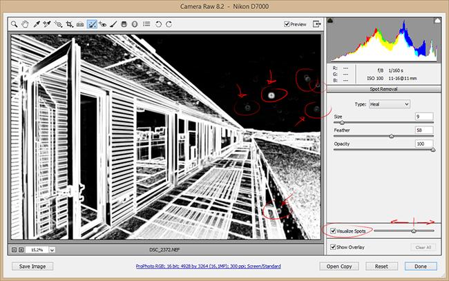 Localizar y eliminar fácilmente las manchas del sensor con Adobe Camera Raw / Lightroom: Truco express