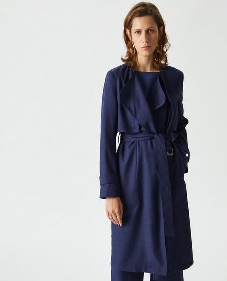 Gabardina Mujer Azul