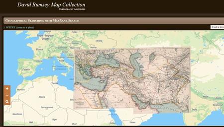 Esta colección de más de 100.000 mapas históricos te permite descargarlos en HD... y visualizarlos superpuestos a mapas actuales