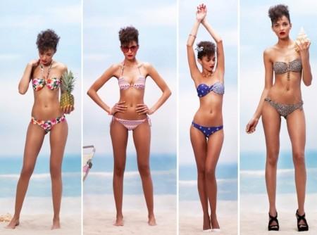 bershka bikini print