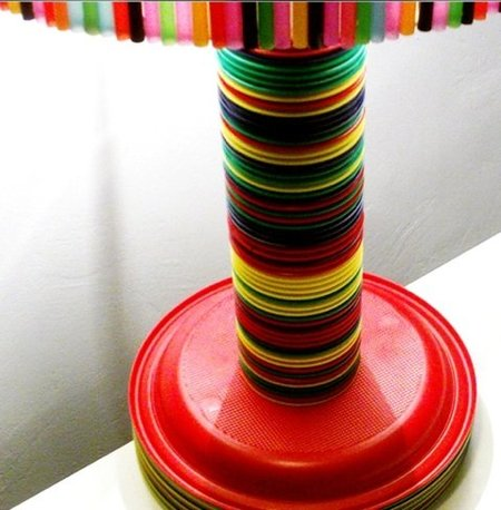 base lampara pajitas