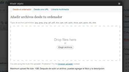 WordPress.com ya cuenta con menús flotantes y subida de imágenes mediante arrastrar y soltar