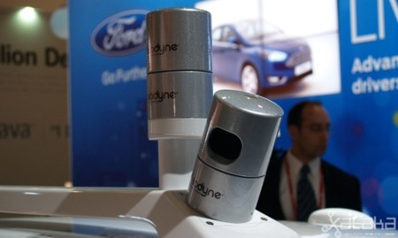 Ford coche autónomo MWC 2014 LIDARes parados
