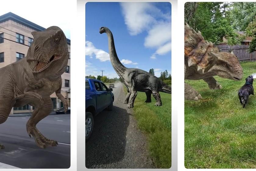 Dinosaurios En 3d Con La Busqueda De Google Asi Puedes Montar Un Parque Jurasico En Tu Salon Tyrannosaurus rex (del griego latinizado tyrannus 'tirano' y saurus 'lagarto', y el latín rex, 'rey'), es la única especie conocida del género fósil tyrannosaurus de dinosaurio terópodo tiranosáurido, que vivió a finales del período cretácico, hace aproximadamente entre 68 y 66 millones de años. dinosaurios en 3d con la busqueda de