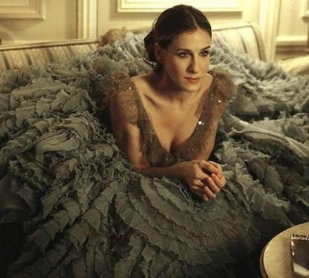 Carrie con vestido de tul