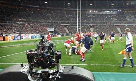Grabación de un partido de Rugby por D4D