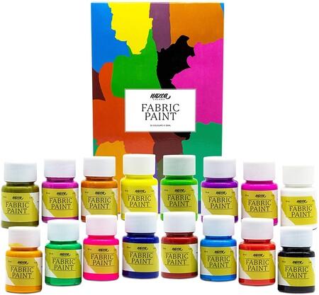 El set de Pintura Textil Nazca Colors está compuesto por 16 colores vivos y potentes que vienen en botes de 30ml. Gracias a la facilidad para mezclarse entre sí, podrás conseguir una paleta infinita de nuevos colores, además combínalas con agua u otro médium para conseguir efectos translúcidos, degradados, etc