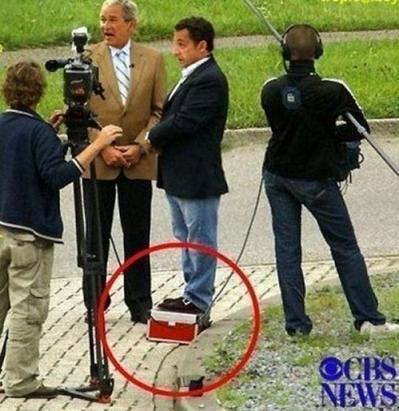 Sarkozy también quiere ser un poco más alto