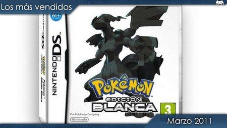Los juegos más vendidos en España. Marzo 2011