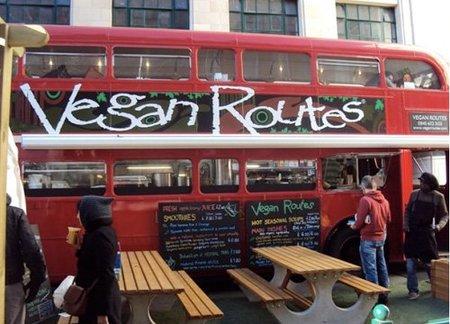 Vegan Routes: restaurante en un autobus de dos pisos en Londres