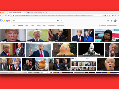 """Internet lo hace de nuevo, si buscas la palabra """"idiot"""" en Google, los resultados son fotos de Donald Trump"""