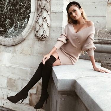 Los vestidos de punto ajustado están de moda, un básico que te salvará tus looks