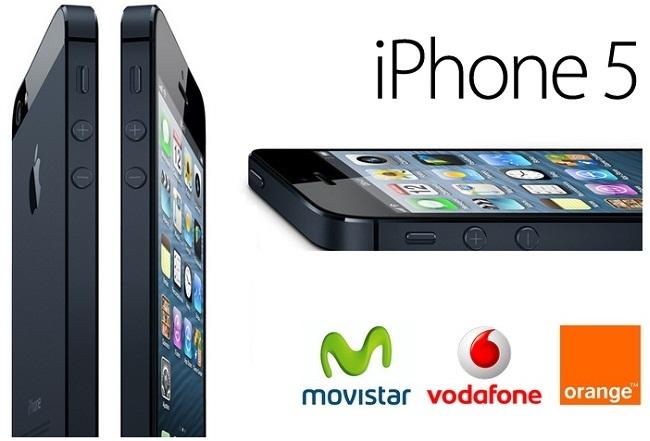 iPhone 5 a la venta con Movistar, Vodafone y Orange