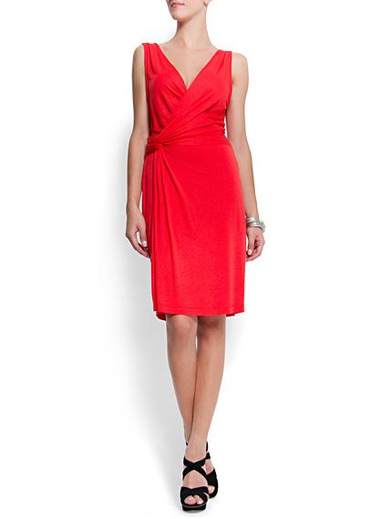 Vestido Mango rojo cruzado