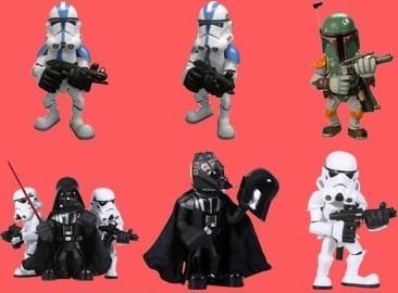 """Iconos de La Guerra de las Galaxias """"superdeformados"""""""