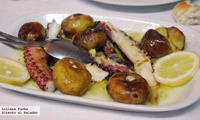 Restaurante O Forno. Pulpo al horno