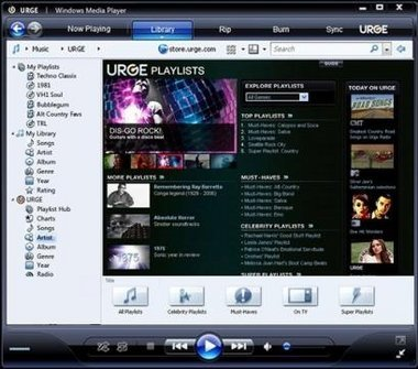 Urge, la tienda de música online de MTV