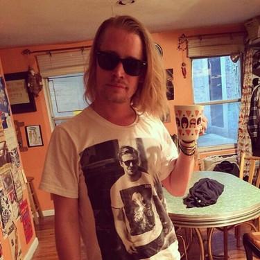 Macaulay Culkin y la meta camiseta