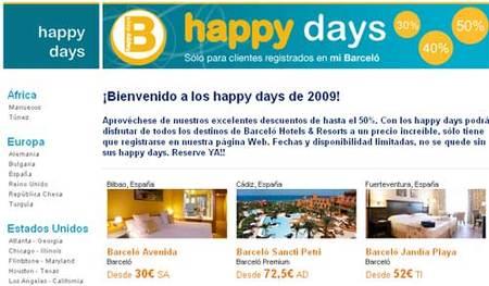 Los Happy Days de Hoteles Barceló