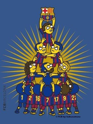 Kukuxumusu diseña una camiseta oficial para el F. C. Barcelona