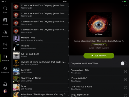 El nuevo diseño de Spotify llega (tardísimo) al iPad
